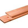 W1009209 Douglas plank 1 zijde geschaafd, 1 zijde fijnbezaagd 28x195x4000 mm blank