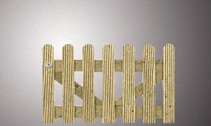 1602  - Vurenhouten deur recht reliëf afgerond 60x100 Op=Op
