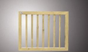 C103329 Vurenhouten deur recht in kader 80x100 cm