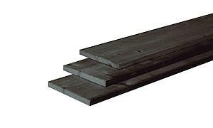 W40650 Douglas plank fijnbezaagd 22x200x4000 mm, zwart gedompeld