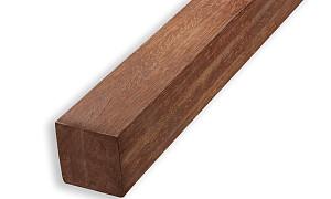 Hardhout Ruw Paal 70x70x3000 mm Azobe