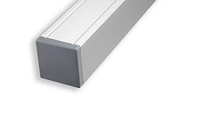 Aluminium paal + kap 68x68x1350 mm (voor design hekjes en poortjes)