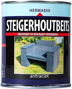 Steigerhoutbeits Antraciet, 750 ml