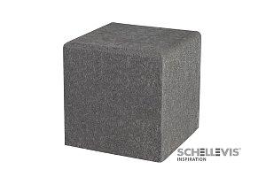 OH Zitelement vierkant 50x50x50 cm Grijs