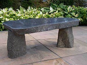 Zitbank Natural graniet, gepolijst, 140x35x45 cm