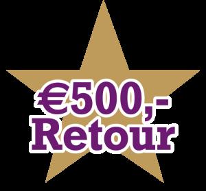 500 euro retour actie