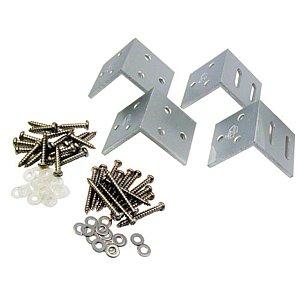 Alu hoekbeslag 4st. tbv hek Aluminium