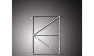 IJzeren frame t.b.v. deur