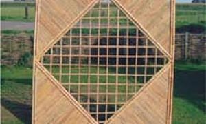 Bamboe scherm met ruit