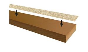 Vlonderstrip Fijn 9x120 cm - Beige/Steenkleur