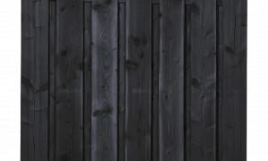 Recht 15-planks - Zwart gedompeld